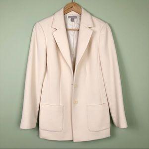 Nordstrom 4 Cream Blazer Wool Cashmere